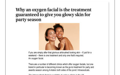 Evening Standard – why an oxygen facial treatment for the party season