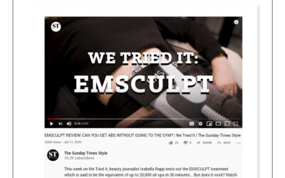 The Sunday Times Style – We tried it: Emsculpt