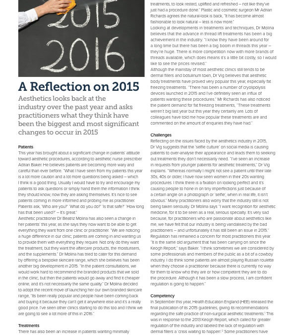 A Reflection on 2015