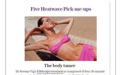 The Telegraph – 5 Heatwave Pick-me-ups